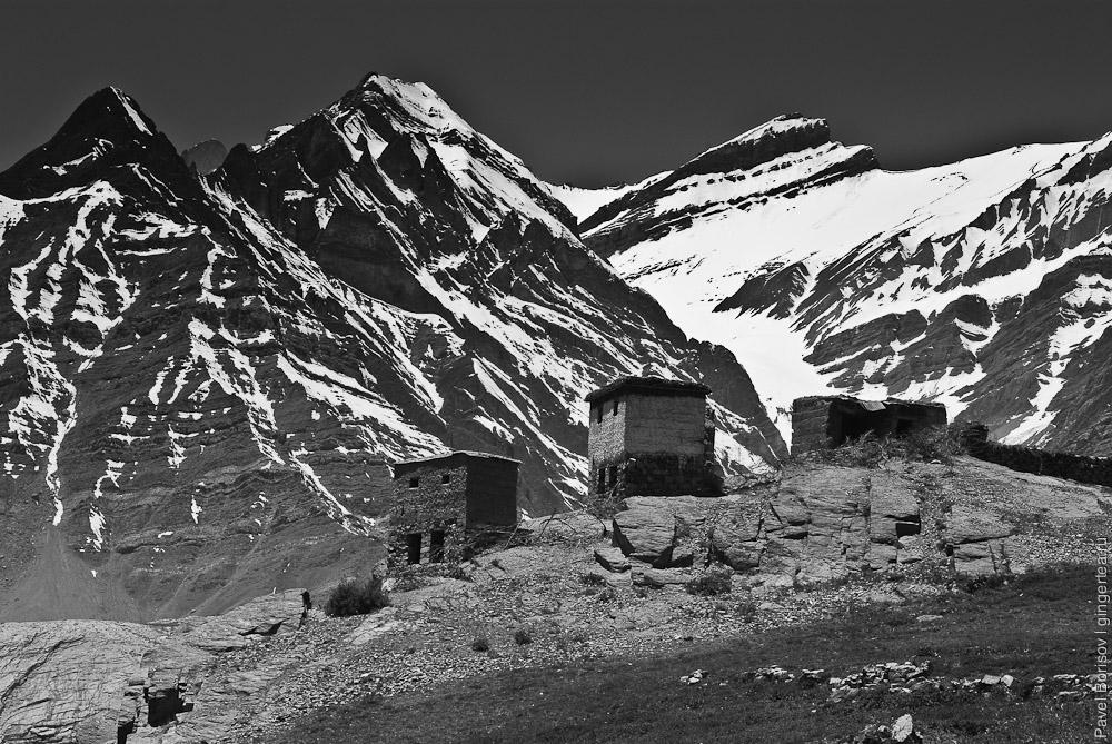 горы в долине Пин, велопоход, mountains in Pin valley