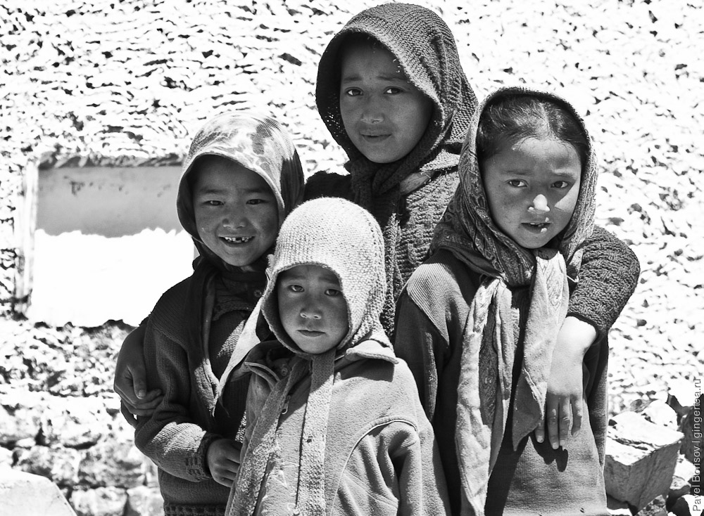 тибетские дети в долине Пин, tibetan children in Pin valley