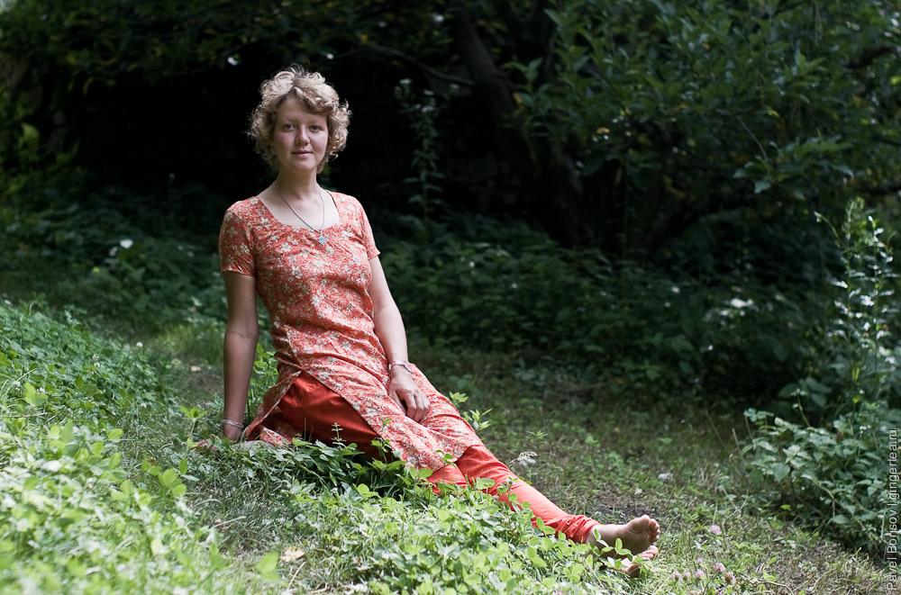 Антонина Захарова в индийском костюме сальвар-камиз