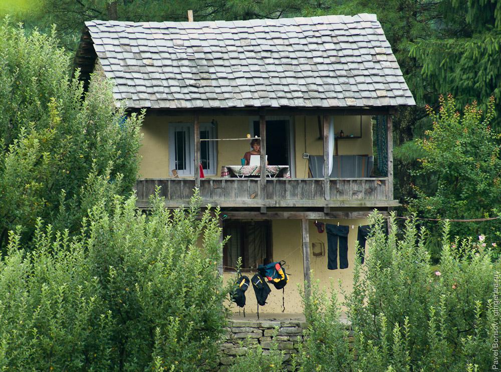 дом в долине Куллу в Химачал-Прадеше