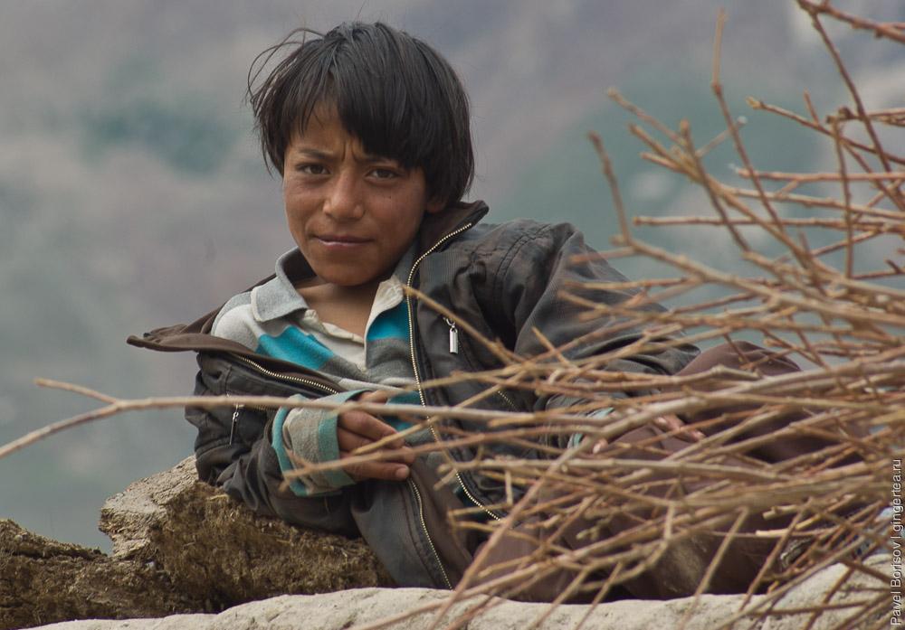 Тибетская молодежь в селе Сани, Занскар, Индия