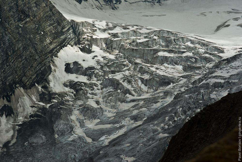 Перевал Чилунг-Ла, нижняя часть южного ледника, Каргил, Индия