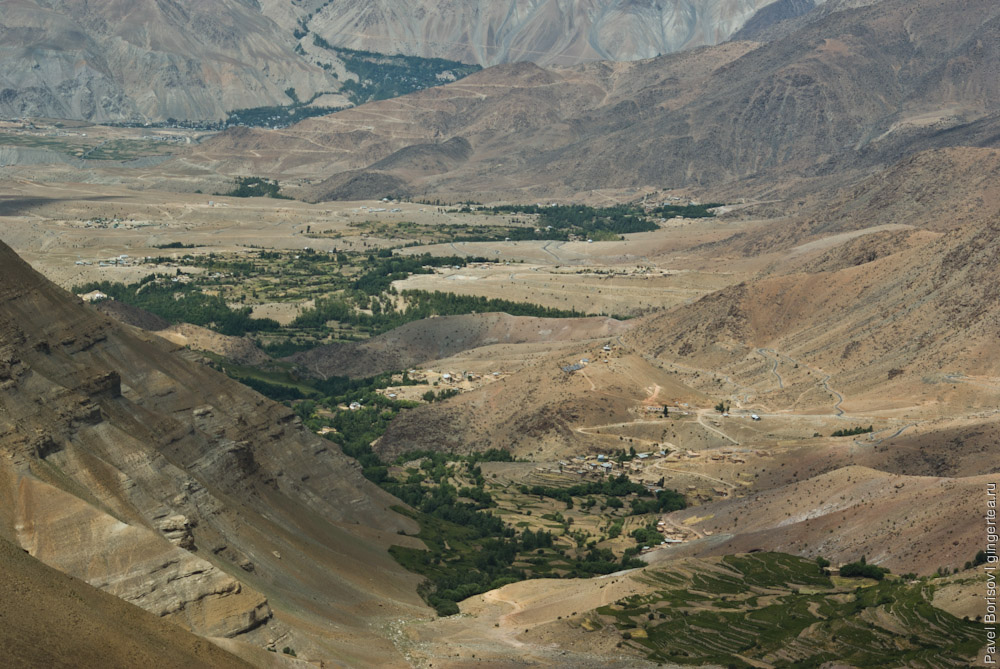 вид с перевала Хамботинг-Ла в сторону Каргила