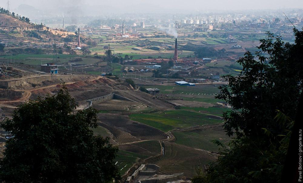 Пригороды Катманду с перевала
