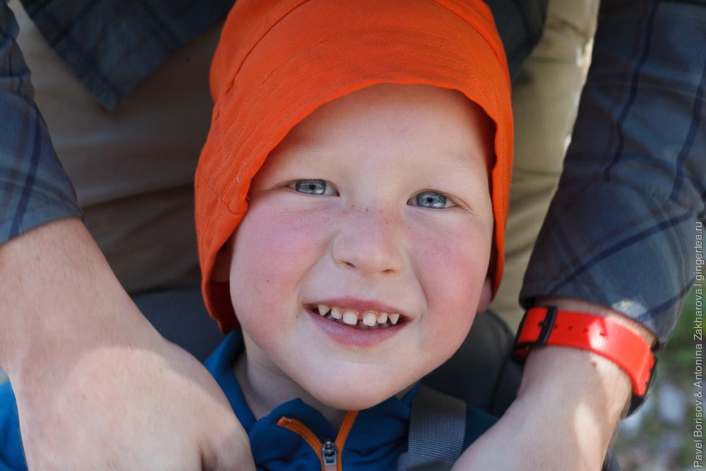 ребенок 3 года в горном походе