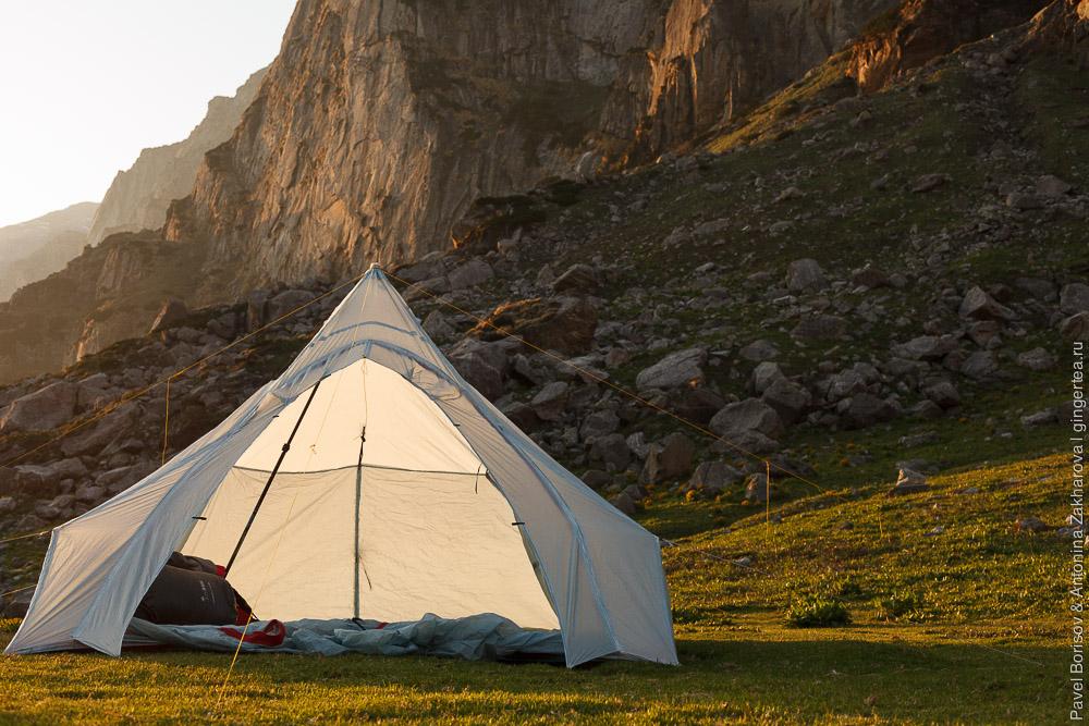 легкая палатка своими руками