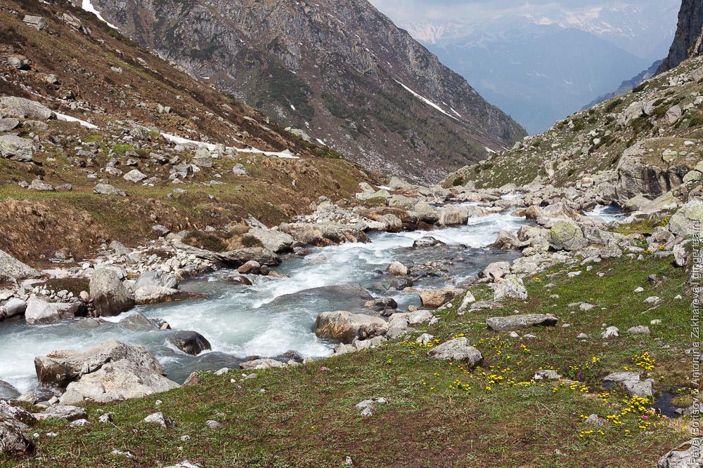 Река Доханган, приток реки Беас в долине Куллу