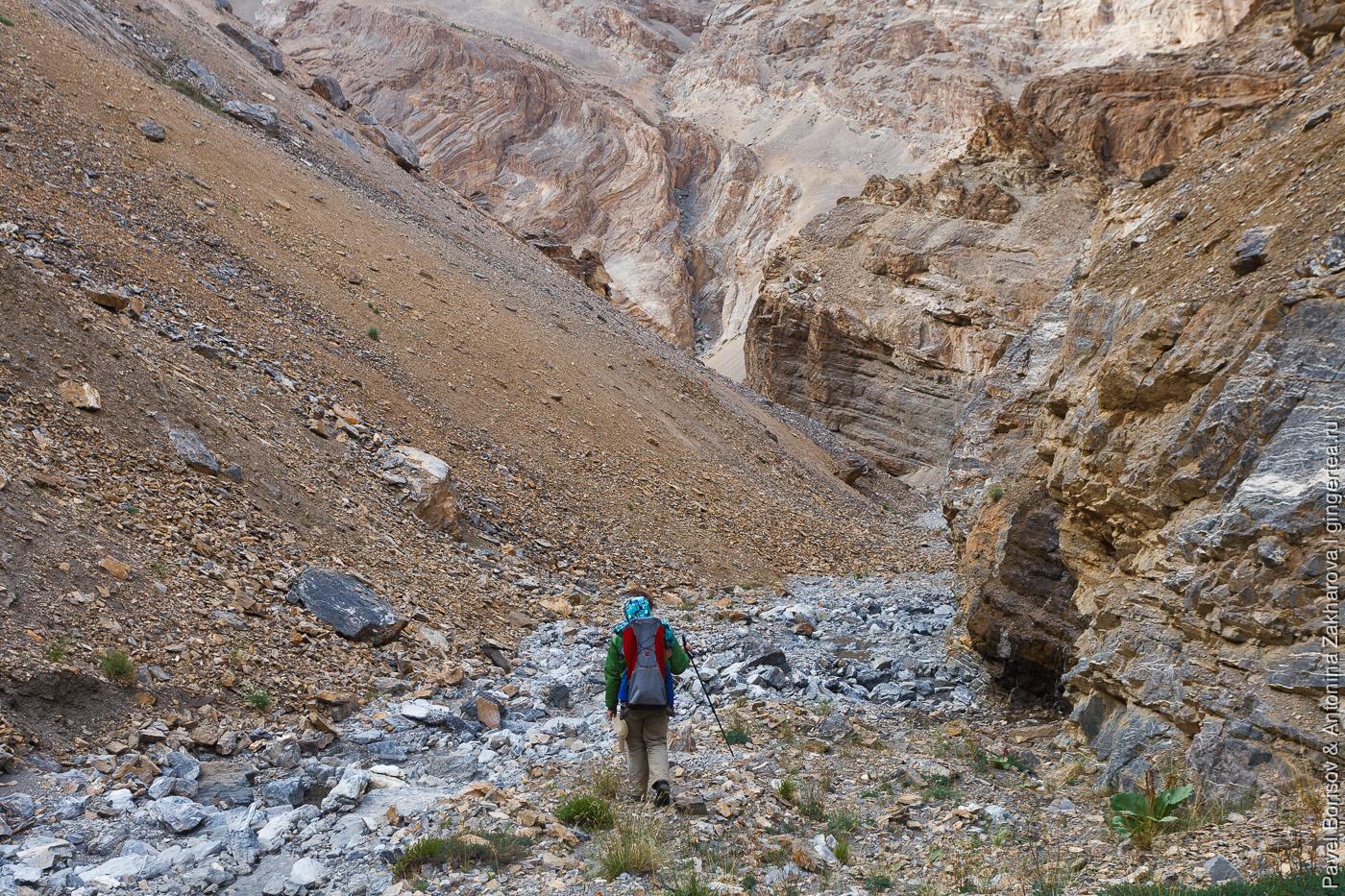 непроходимый каньон, подъем к вершине Лингти, Индийские Гималаи