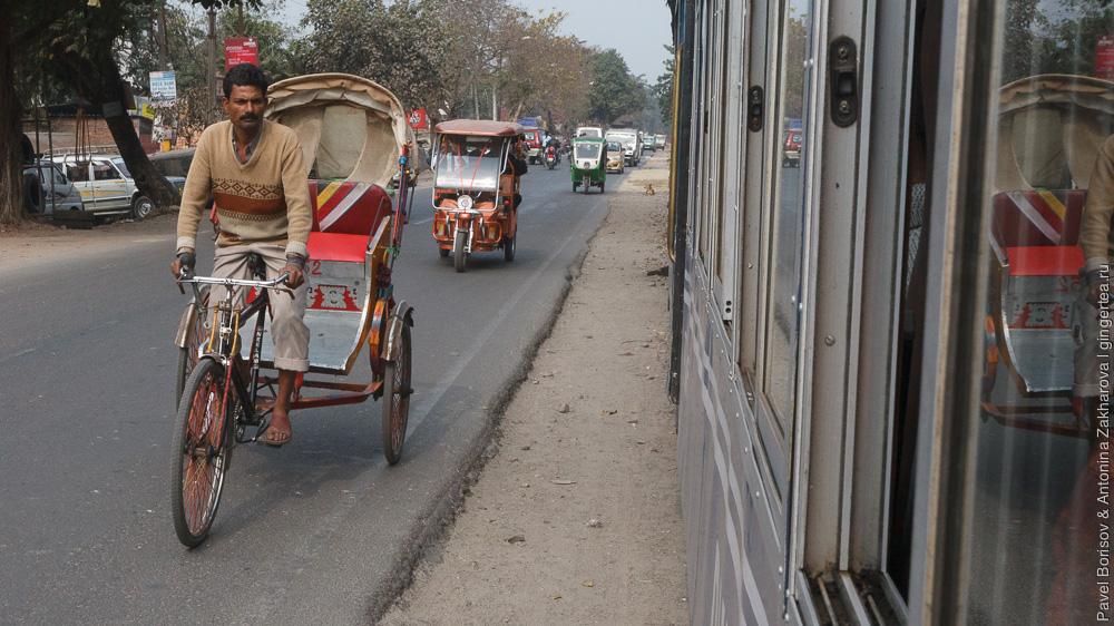 путь по равнине в районе Силигури Дарджилингская Гималайская железная дорога