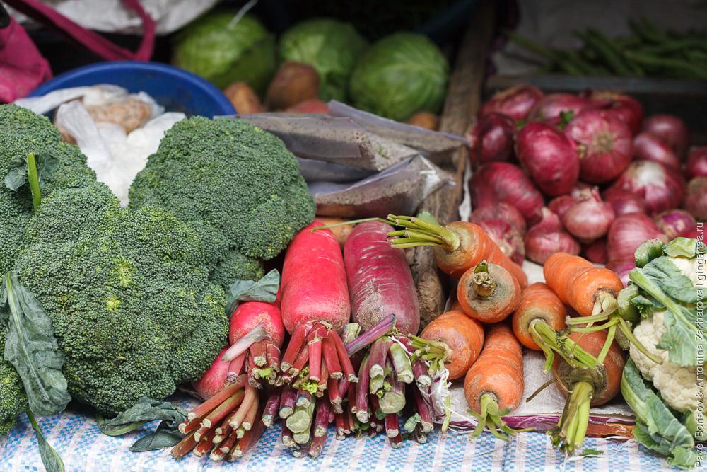 какие овощи продаются на рынке в Индии