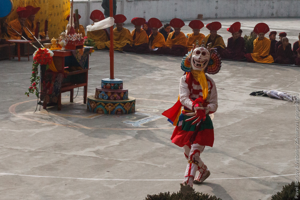 танец скелетов в тибетском монастыре Друк Санганг Чолинг