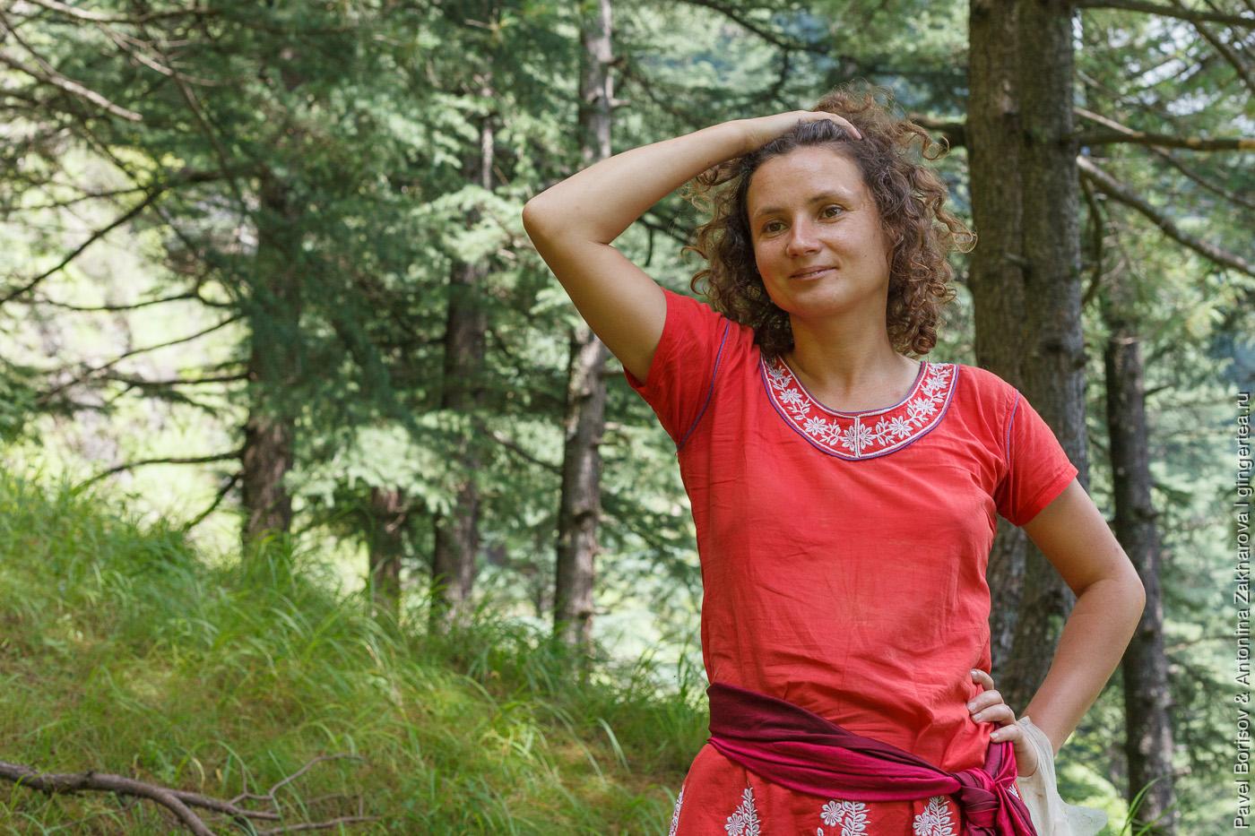 девушка в национальной одежде, Индия