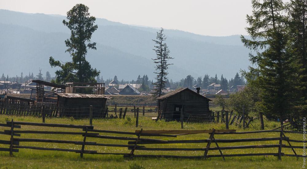 деревянные дома в Бурятии