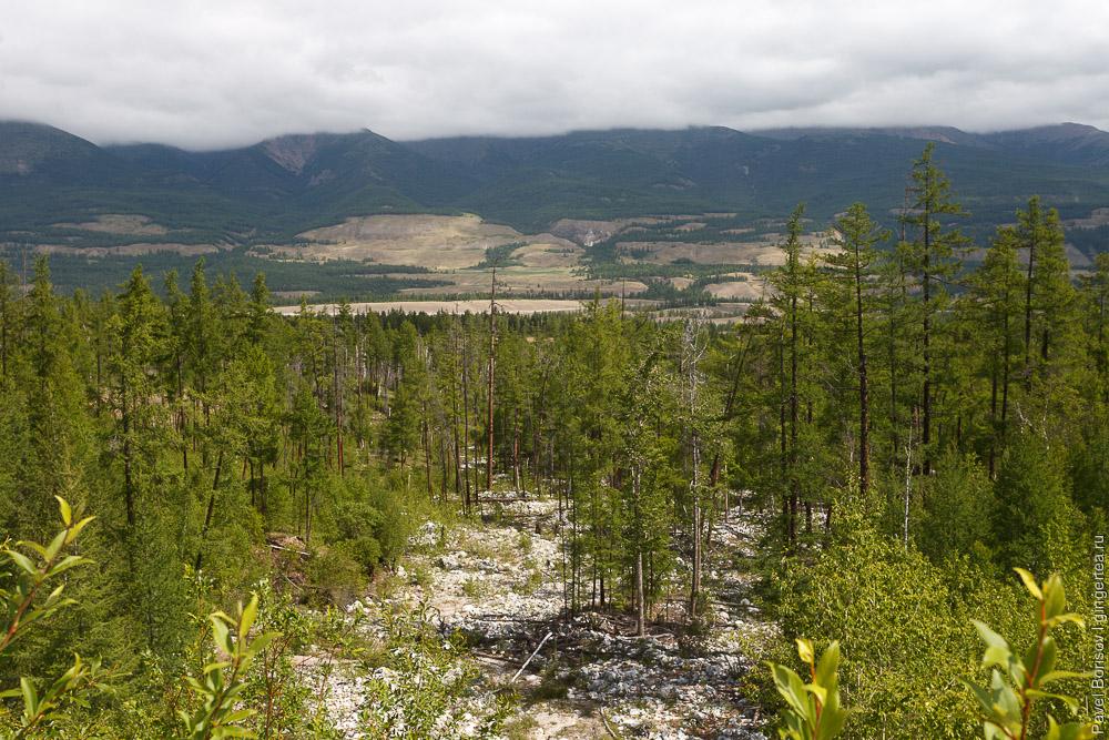 вид с подъёма на перевал Мунгийн-Даба