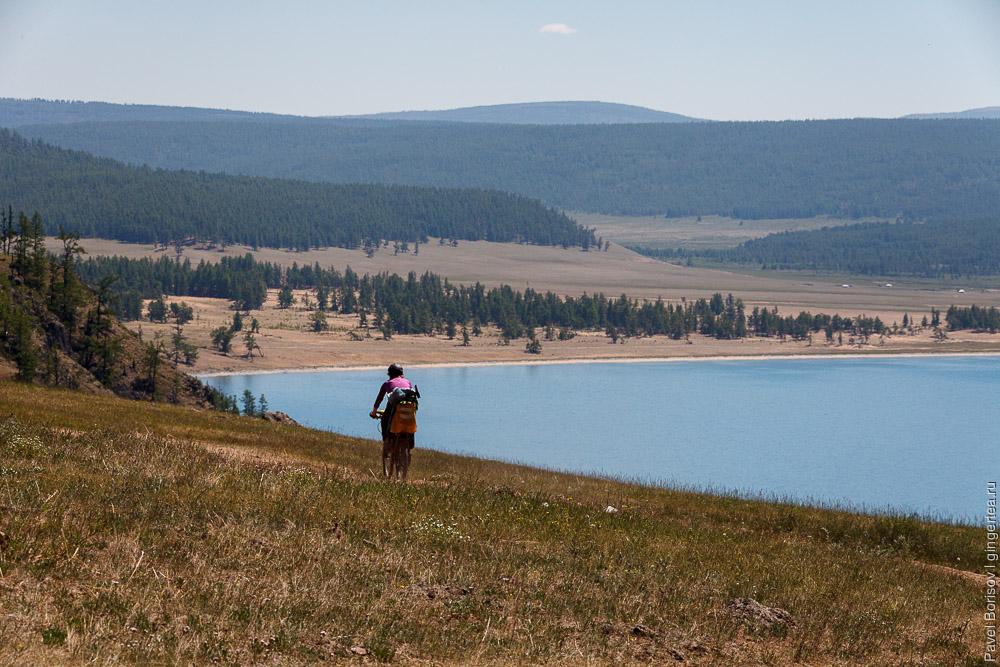 велопоход на озере Хубсугул в Монголии