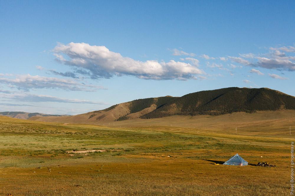 красивый пейзаж в Монголии