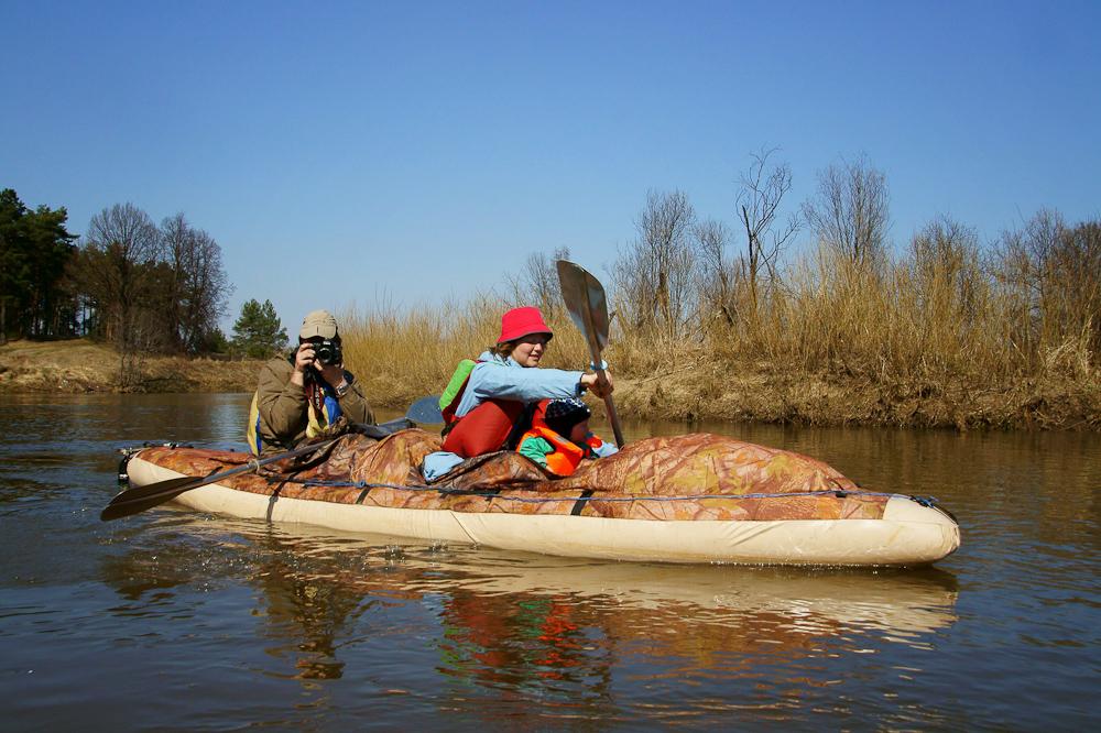 водный поход по реке Киржач с малышом