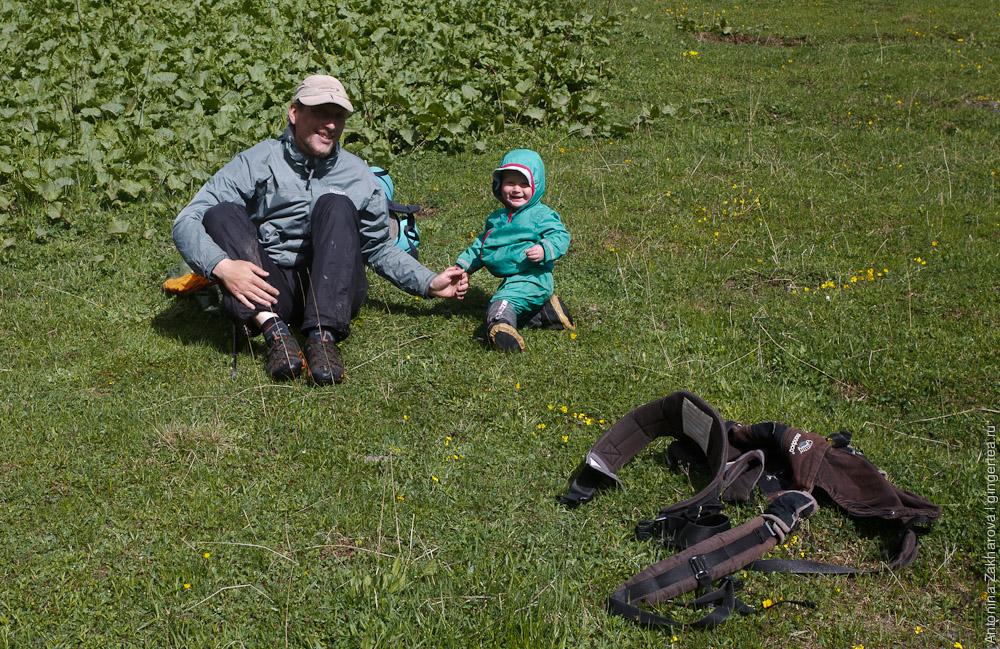 горный поход с годовалым ребенком