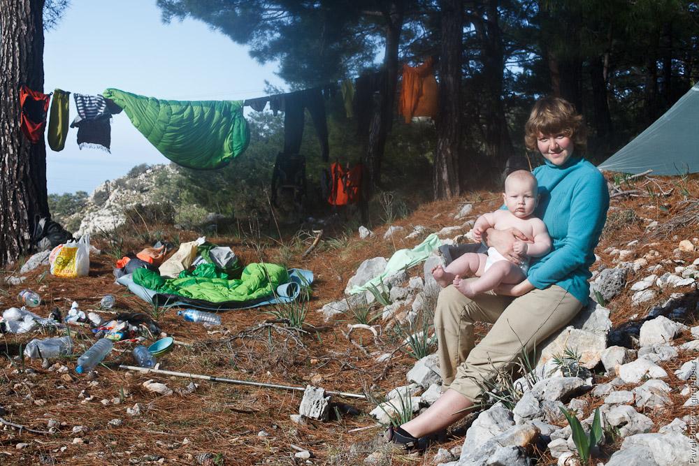 поход по Ликийской тропе с грудным ребенком