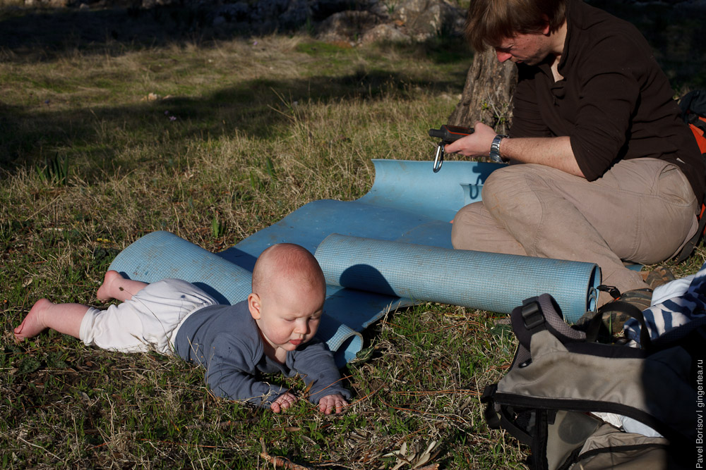поход по Ликийской тропе с младенцем